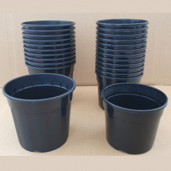 VASO CONTAINER NERO 12 CM (BLACK POT)